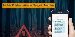 Mobile Phishing attacks surge